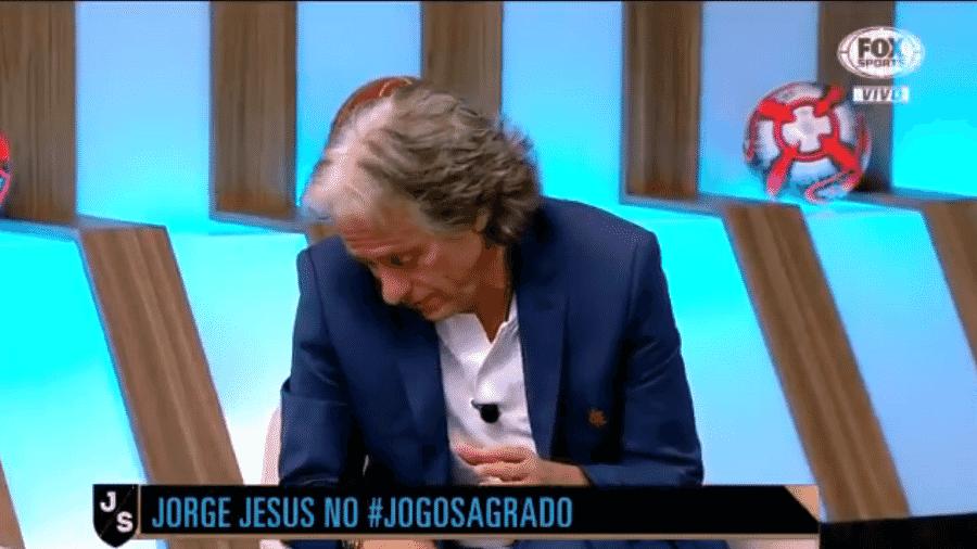 Jorge Jesus se emociona ao falar sobre seu pai - Reprodução/Fox Sports