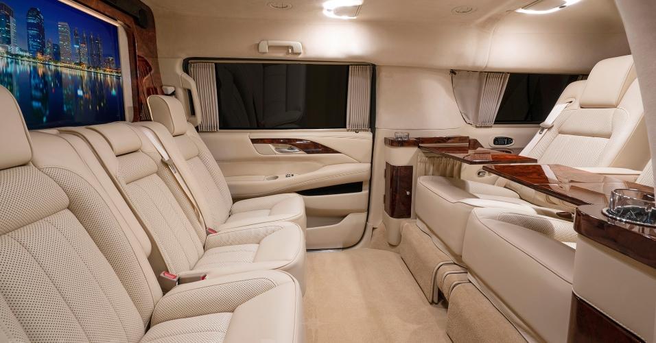 Conforto do veículo de Tom Brady, que está sendo vendido