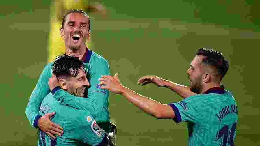 Griezmann deve seguir no Barcelona após conversa com a direção do clube - JOSE JORDAN / AFP