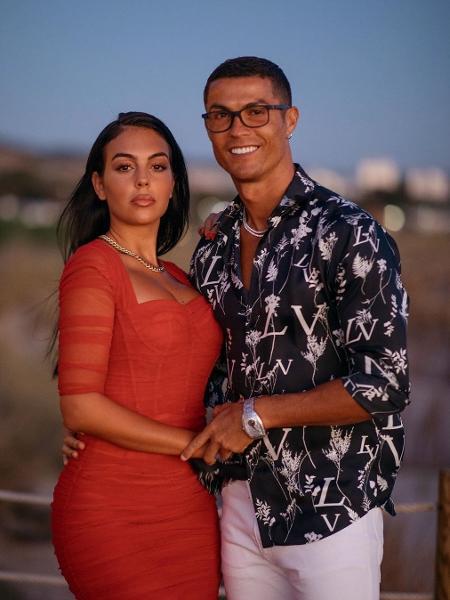 Cristiano Ronaldo e a noiva Georgina Rodriguez durante festa de noivado - Reprodução/Instagrma
