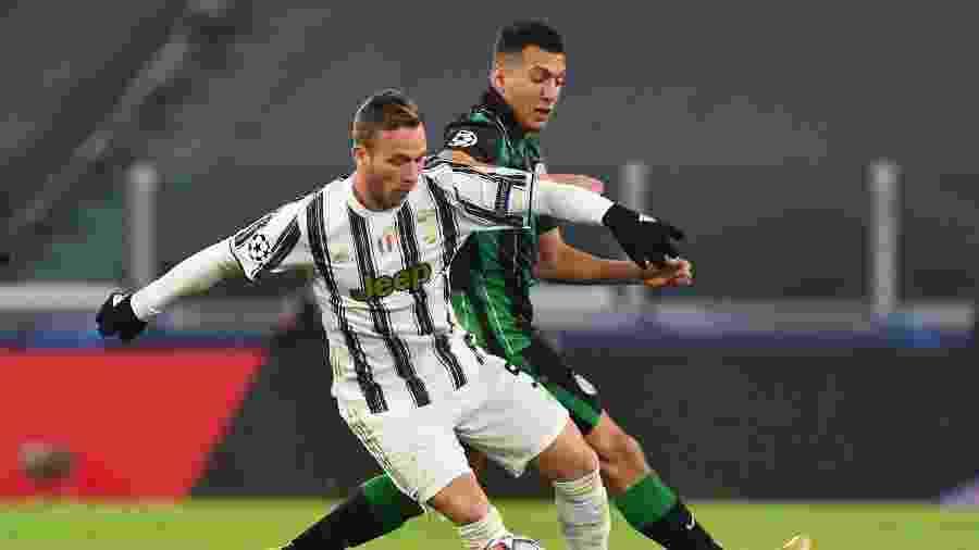 Arthur, durante partida entre Juventus e Ferencvaros, pela Liga dos Campeões - REUTERS/Massimo Pinca