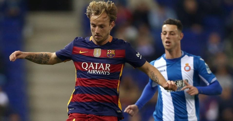 Rakitic, escolhido por Neymar como um dos três melhores jogadores do mundo, também esteve em campo contra o Espanyol.