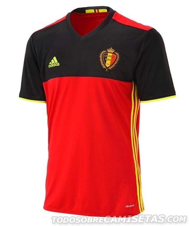 GRUPO E: Bélgica (camisa titular, adidas)