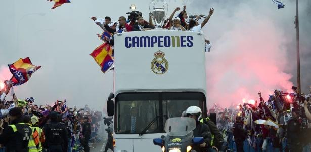 Jogadores do Real Madrid comemoraram o 11º título do time na Liga dos Campeões