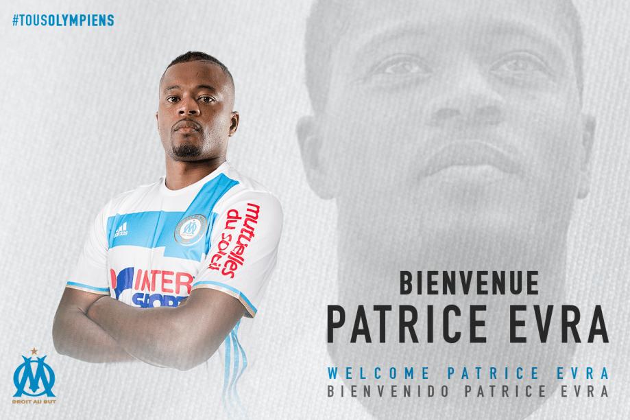 Lateral-esquerdo Patrice Evra é anunciado pelo Olympique de Marselha