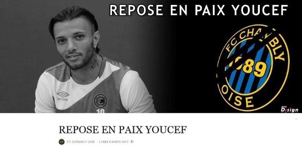 Youcef Touati tinha 27 anos e defendia o FC Chambly-Oise desde 2015