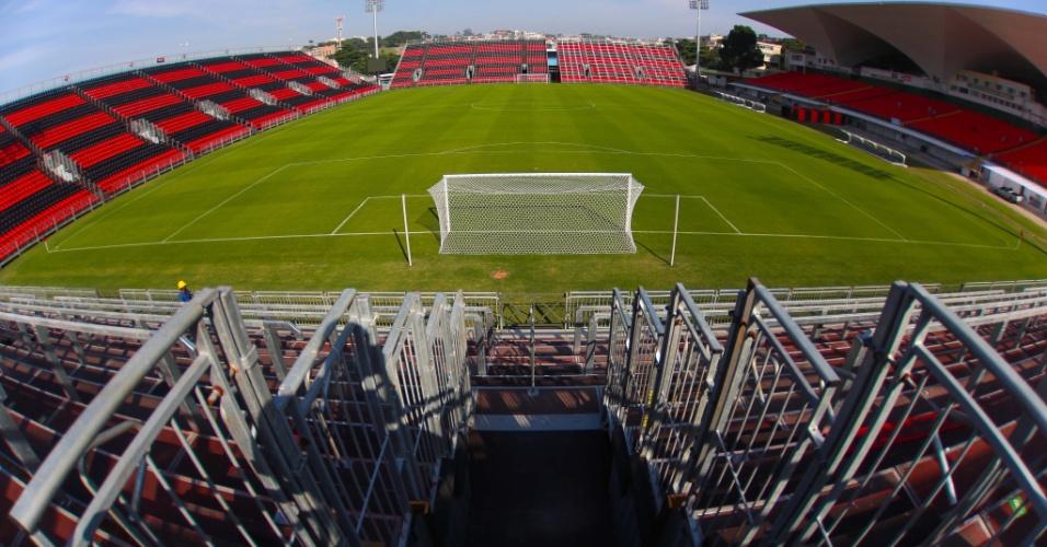 Visão do Setor Norte na Ilha do Urubu, o local das organizadas no estádio do Flamengo