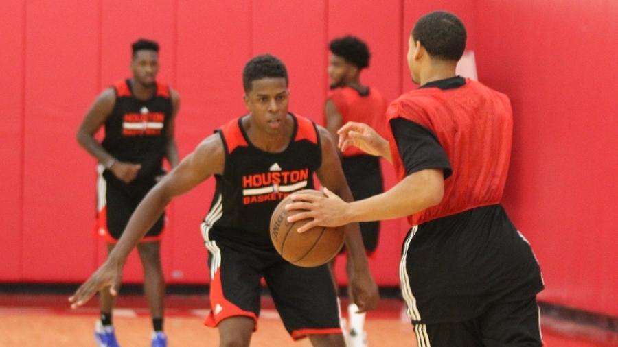 Georginho em ação durante treino dos Rockets para a Liga de Verão da NBA - Instagram/Reprodução