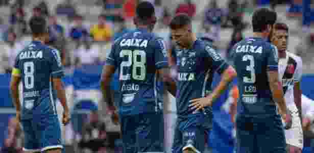 Jogadores do Cruzeiro lamentam derrota para o Vasco no Mineirão - Washington Alves/Light Press/Cruzeiro