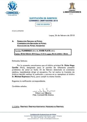 Segundo nota, peruano Victor Hugo Carrillo foi substituído pelo compatriota Michael Espinoza