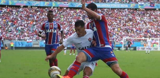 Bahia abriu o placar no primeiro tempo e aumentou no segundo; Vitória só descontou