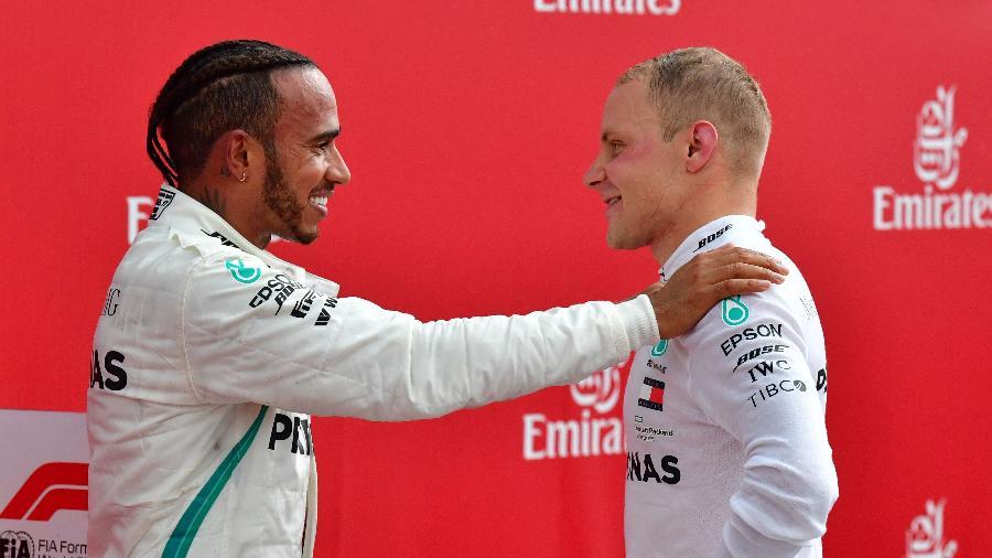 Hamilton Bottas Mercedes - Andrej Isakovic/AFP