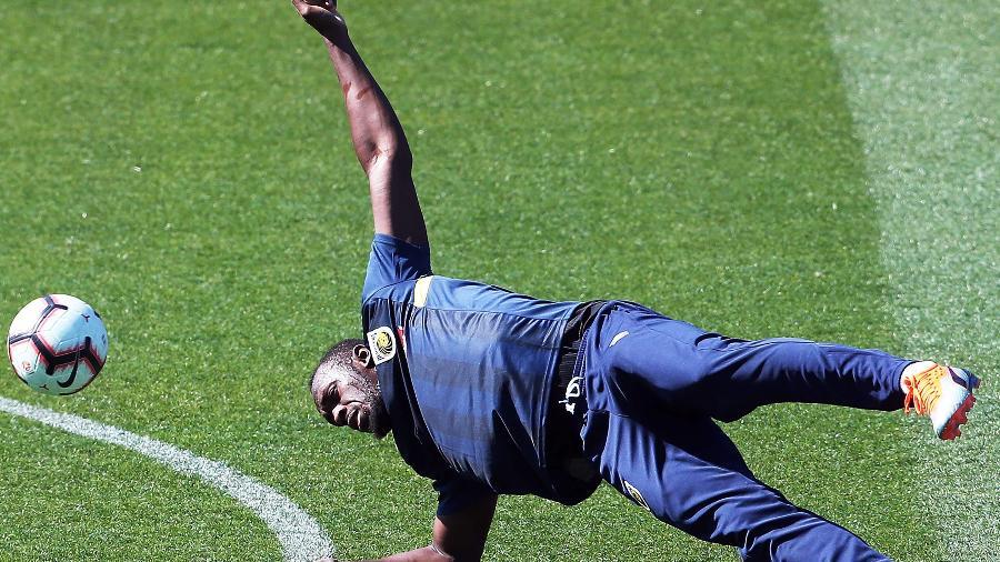 Usain Bolt treina com o Central Coast Mariners  - Peter Lorimer/AFP