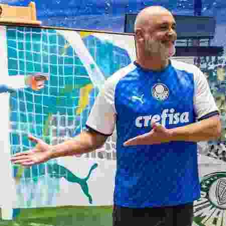 Marcos foi estrela da campanha do novo uniforme do Palmeiras feito em homenagem ao título da Libertadores - Divulgação