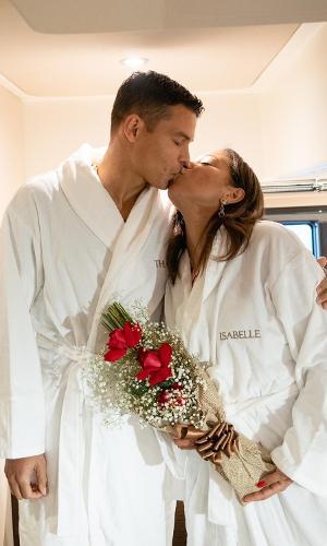 Thiago Silva e esposa Belle