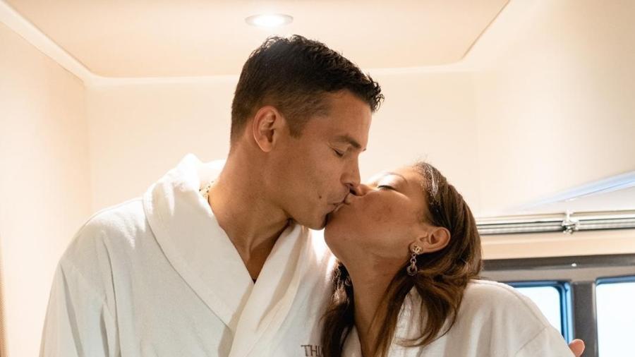 Thiago Silva e esposa Belle - Divulgação