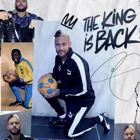 Neymar assinou contrato com a Puma recentemente - Reprodução