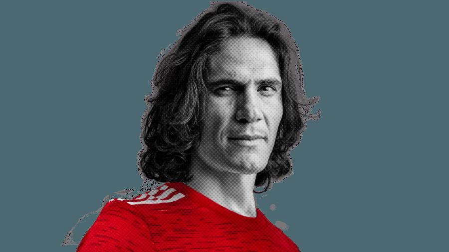 Edinson Cavani, atacante do Manchester United, foi criticado por Paul Scholes - Divulgação/Site oficial do Manchester United