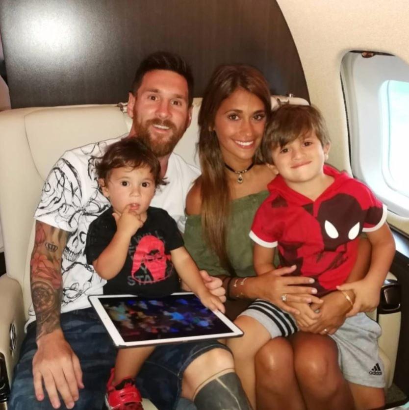 futebol muleke - jatinho familia messi