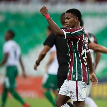 Kayky, 17 anos, festeja gol do Fluminense - Jorge Rodrigues/AGIF