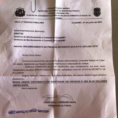 Encaminhamento de segurança da seleção do Uruguai para audiência de custódia em Cuiabá - Bruno Braz / UOL Esporte - Bruno Braz / UOL Esporte