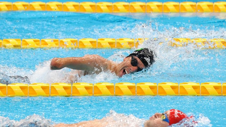 Daniel Dias, durante prova nas Paralimpíadas de Tóquio - Mikihito Matsui/CPB