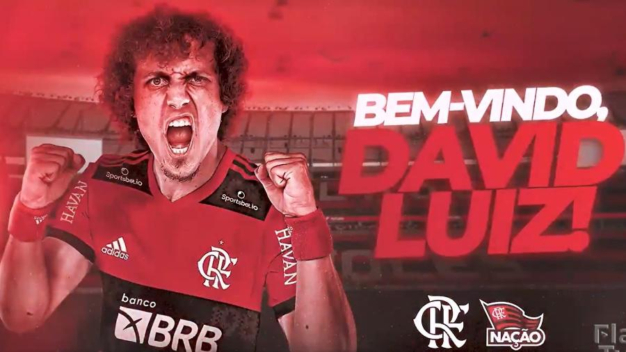 Flamengo anuncia a contratação de David Luiz - Reprodução/Fla TV