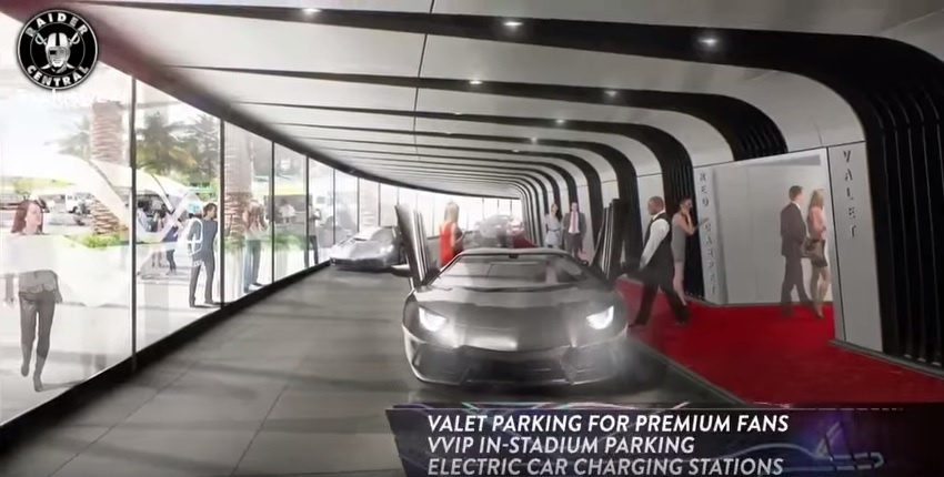 Setor VIP prevê acesso dos carros a poucos metros do estádio e pontos de recarga para veículos elétricos