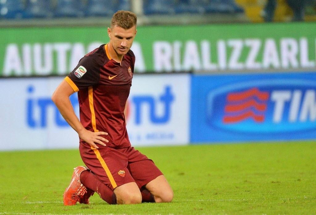 Dzeko lamenta derrota da Roma para Sampdoria