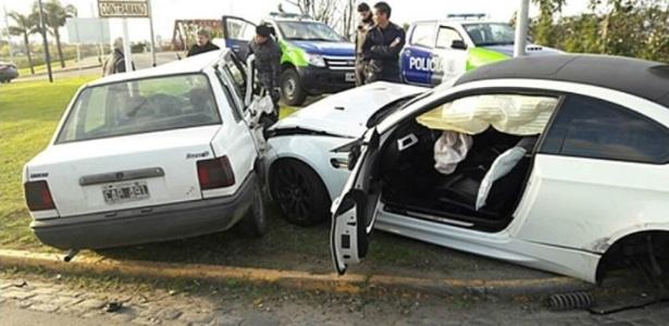 BMW que pertencente a Centurión se envolveu em acidente na Argentina