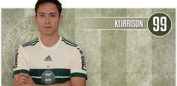 Keirrison usa a camisa 99 em seu retorno ao Coritiba