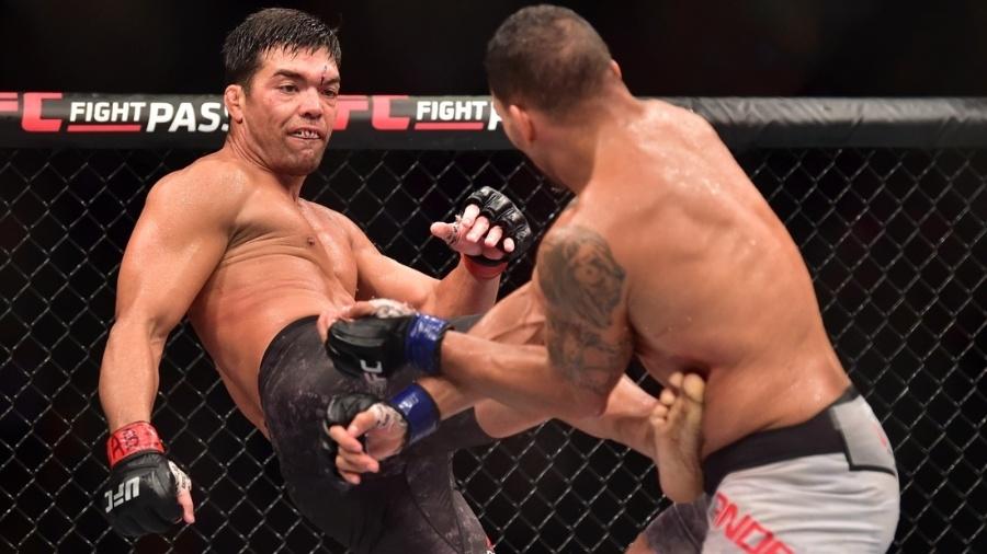Lyoto Machida durante luta principal contra o americano Eryk Anders - Jason Silva/AGIF