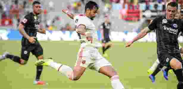 Dourado contra o Frankfurt - Alexandre Vidal/Flamengo