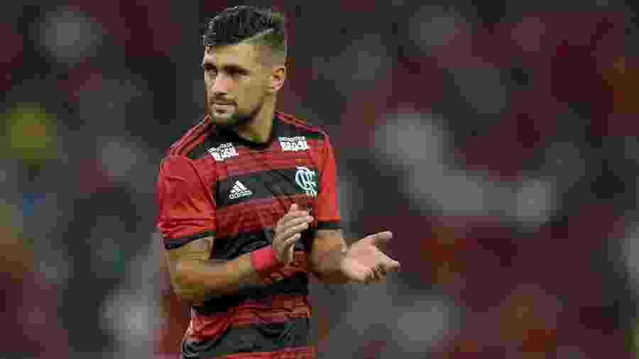 O uniforme do Flamengo deve ter um novo patrocinador nos próximos dias - Thiago Ribeiro/Agif