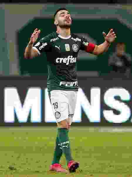 Bruno Henrique, do Palmeiras, no jogo contra o Cruzeiro - Marcello Zambrana/AGIF