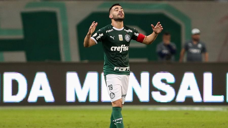 Bruno Henrique comemora gol do Palmeiras contra o Cruzeiro - Marcello Zambrana/AGIF