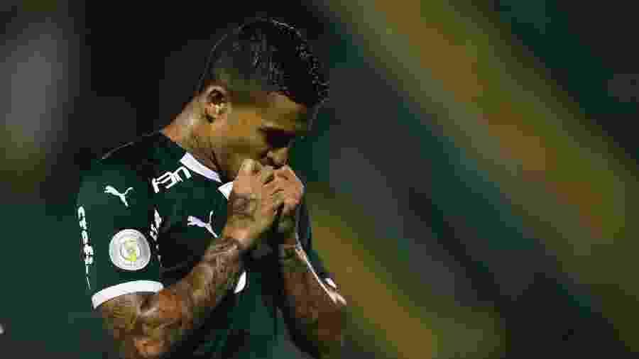 Dudu comemora gol do Palmeiras  - RICARDO MOREIRA/FOTOARENA/ESTADÃO CONTEÚDO