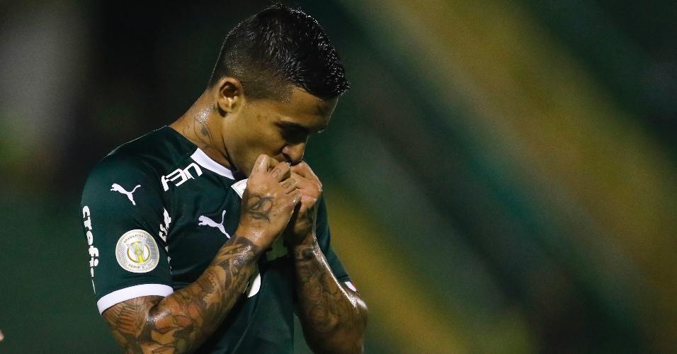 Dudu comemora gol do Palmeiras contra o Goiás