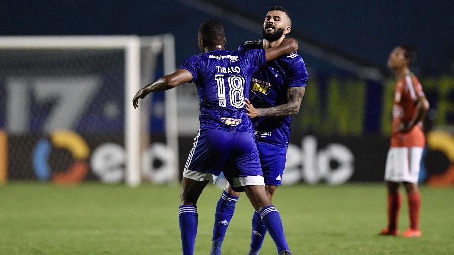 João Lucas, do Cruzeiro, comemora gol contra o Boa Esporte, pela Copa do Brasil - Douglas Magno/Light Press/Cruzeiro
