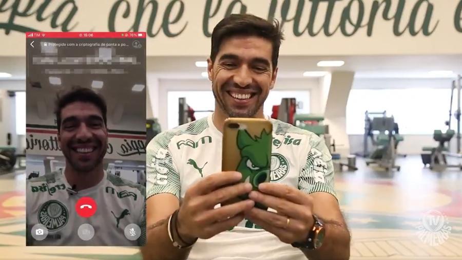 Abel Ferreira liga para sócios-torcedores do Palmeiras - Reprodução/TV Palmeiras
