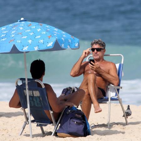 Renato Gaúcho na praia de Ipanema, no Rio - jcpe/JC PEREIRA /AGNEWS / AgNews