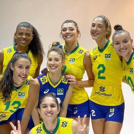 Jogadoras da seleção feminina de vôlei - Reprodução/Instagram