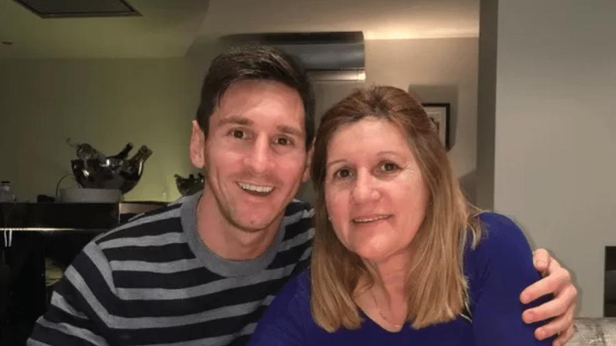Lionel Messi e sua mãe, María Celia Cuccittini - Instagram
