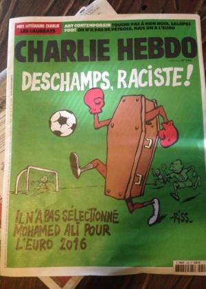 Jornal francês Charlei Hebdo ironiza declarações de Benzema