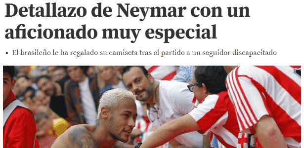 Neymar 3 - Reprodução / Mundo Deportivo - Reprodução / Mundo Deportivo