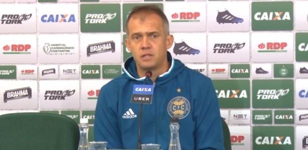 Baptista reclamou da postura dos jogadores do Coxa diante do São Bento - Reprodução/TV Coxa