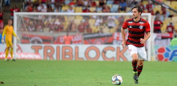 Rodrigo Caio em ação durante jogo do Flamengo - Alexandre Vidal/Flamengo