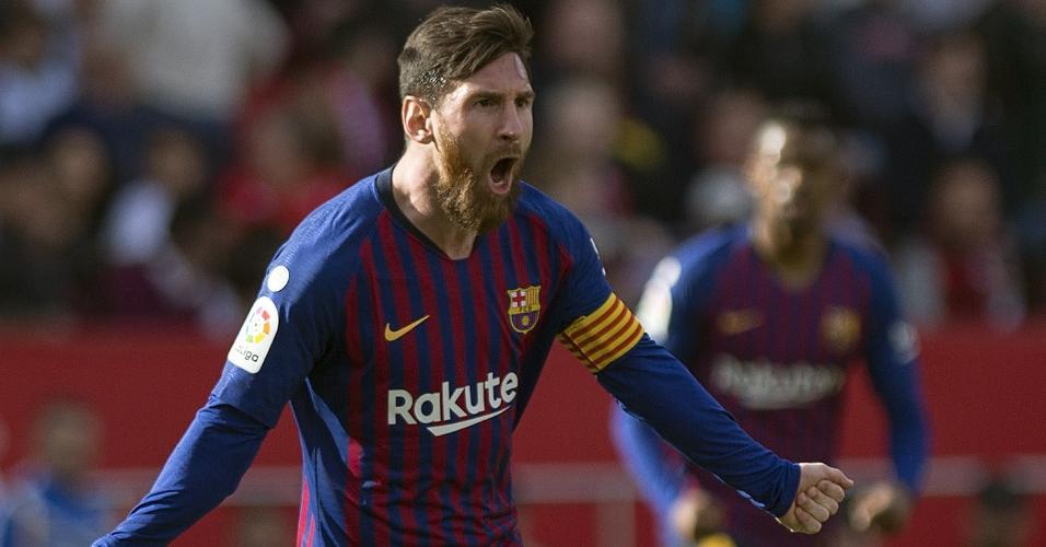 Messi faz três contra o Sevilla