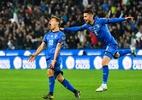 Jovens marcam e Itália estreia com vitória nas Eliminatórias da Euro - Andreas Solaro / AFP