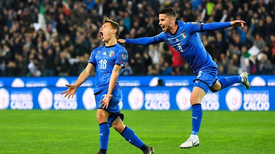 Barella abriu o placar para a Itália nas Eliminatórias da Euro - Andreas Solaro / AFP